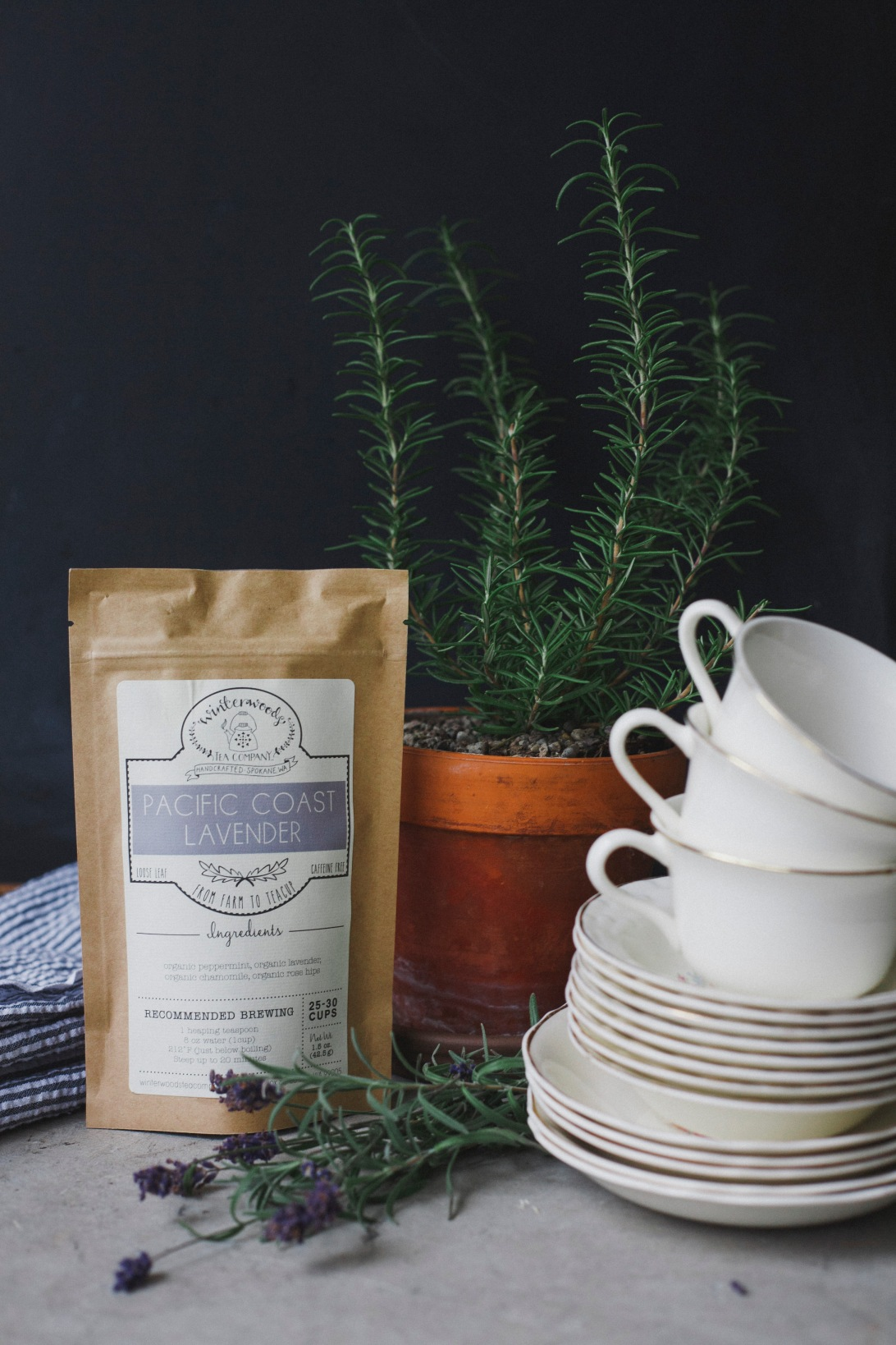 Pacific Coast Lavender | Winterwoods Tea Company | Product Styling and Photography Dana Muchow Design